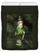 Leprechaun Christmas Ornament Duvet Cover