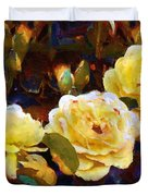 Les Roses Sauvages Duvet Cover