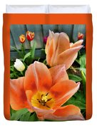 Lets All Dance For The Tulips Are Out Duvet Cover