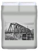 Lewiston-auburn Railroad Bridge Duvet Cover