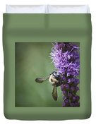 Liatris And Bee Squared 2 Duvet Cover