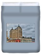 Liberty Building And Hotel Lafayette Duvet Cover