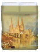 Lichfield Duvet Cover by Joseph Mallord William Turner
