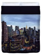 Life In The Big City Duvet Cover