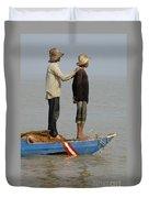 Life On Lake Tonle Sap 4 Duvet Cover