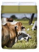 Life On The Farm Duvet Cover