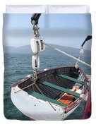 Lifeboat From The Schooner Margaret Todd Duvet Cover
