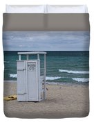 Lifeguard Station At The Beach Duvet Cover