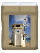 Lifeguard Tower Duvet Cover