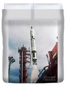 Lift-off Of Gemini-titan 11, Cape Duvet Cover