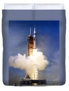 Liftoff Of The Saturn Ib Launch Vehicle Duvet Cover