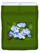 Light Blue Plumbago Flowers Duvet Cover by Carol Groenen