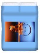 Light Bulb Shot Into Water Duvet Cover