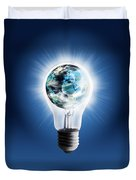 Light Bulb With Globe Duvet Cover