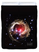 Light Echoes From Exploding Star Duvet Cover