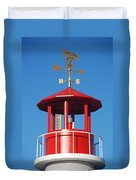 Light House On Coney Island Duvet Cover