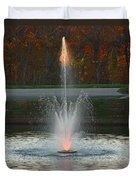 Lighted Fountain Duvet Cover