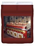 Lighted Incense Sticks Duvet Cover