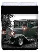 Lighted Old Black And White Duvet Cover