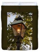 Lighted Street Lamppost Duvet Cover