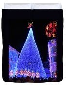 Lighted Xmas Tree Walt Disney World Duvet Cover