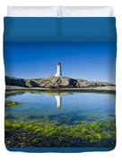 Lighthouse And Tide Pool Duvet Cover