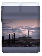 Lighthouse At Low Tide II Duvet Cover
