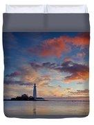 Lighthouse At Sunrise Duvet Cover