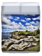 Lighthouse At Watson Bay Duvet Cover