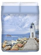 Lighthouse Camogli Duvet Cover