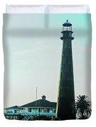 Lighthouse Galveston Duvet Cover