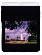 Lighthouse In Biloxi Mississippi Duvet Cover