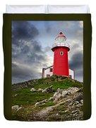 Lighthouse On Hill Duvet Cover