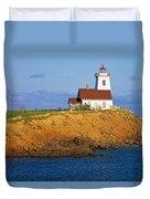 Lighthouse On Prince Edward Island Duvet Cover