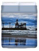 Lighthouse Reflections Duvet Cover