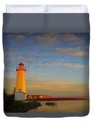 Lighthouse, Sylvan Lake, Alberta, Canada Duvet Cover