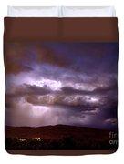 Lightning Strikes During A Thunderstorm Duvet Cover