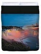 Lights On Niagara Duvet Cover
