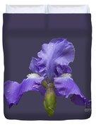 Lilac Iris Duvet Cover