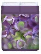 Lilac Syringa Sp Flower, Close Duvet Cover