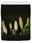 Lilies In A Row Duvet Cover