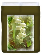 Lily Of The Valley - In White #2 Duvet Cover