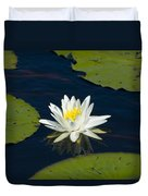 Lily Pad And Flower Duvet Cover