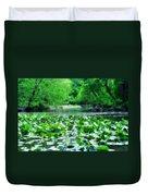 Lily Pads Along Unami Creek Duvet Cover