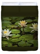 Lily Pads And Blossoms. No186 Duvet Cover