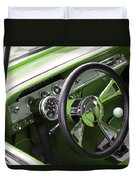 Lime Chevy Impala  Duvet Cover