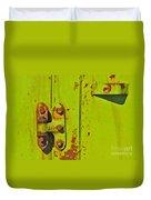 Lime Hinge Duvet Cover