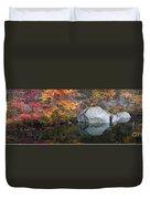Lincoln Woods Autumn Boulders Duvet Cover