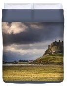 Lindisfarne Castle, Beblowe Crag Duvet Cover