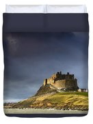 Lindisfarne Castle On A Volcanic Mound Duvet Cover by John Short